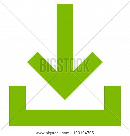Inbox vector icon. Style is flat icon symbol, eco green color, white background.