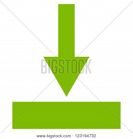 Move Bottom vector icon. Style is flat icon symbol, eco green color, white background.