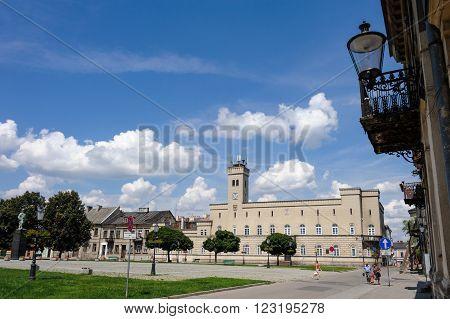 RADOM, POLAND - JULY 4, 2009: State Archive former City Hall at Rynek in Radom Poland