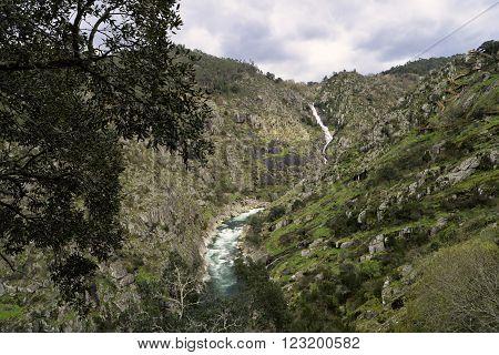 Paiva River, in Arouca municipality, Aveiro, Portugal.