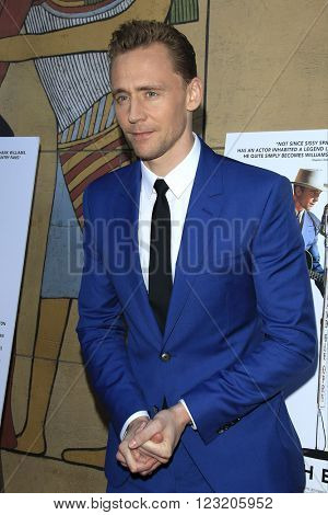 LOS ANGELES - MAR 22: Tom Hiddleston at the Premiere of 'I Saw The Light' at the Egyptian Theatre on March 22, 2016 in Los Angeles, California