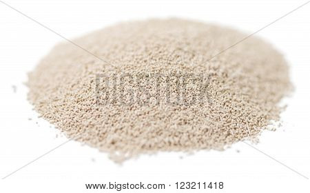 Dried Yeast (isolated On White)