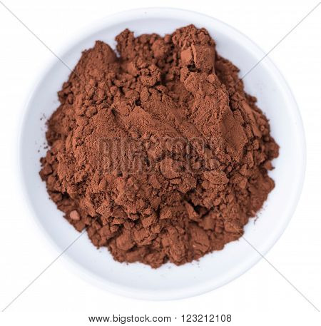 Portion Of Cocoa Powder Isolated On White