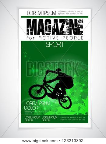 Cover sport active magazine, vector