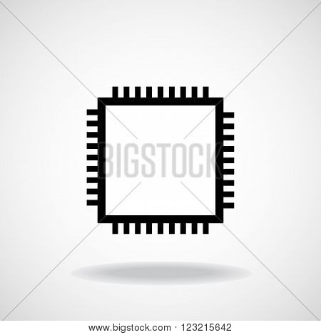 Cpu. Microprocessor. Microchip. Vector illustration. Eps 10