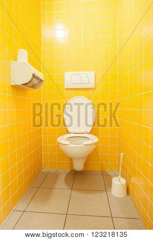 an public toilet in an public building for lady's