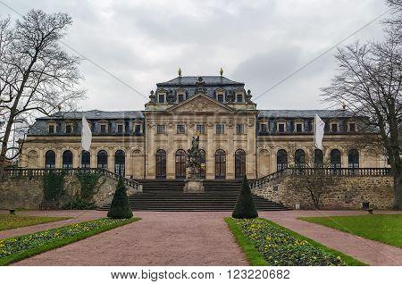 building of Orangerie in Fulda palace garden Germany