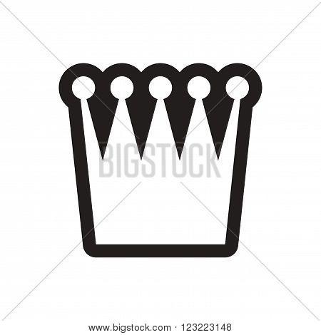 stylish black and white icon British crown