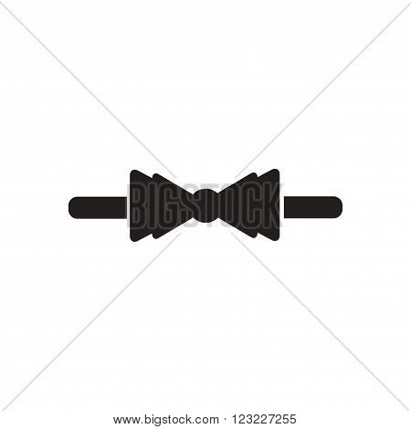Flat icon in black and white  bow tie