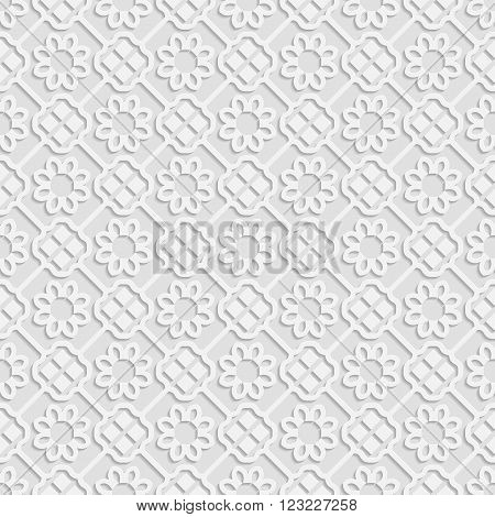 Seamless white 3D pattern arabic motif east ornament indian ornament vector. Endless texture can be used for wallpaper pattern fills web page backgroundsurface textures.