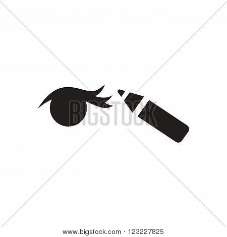 Flat icon in black and white  Eyeliner