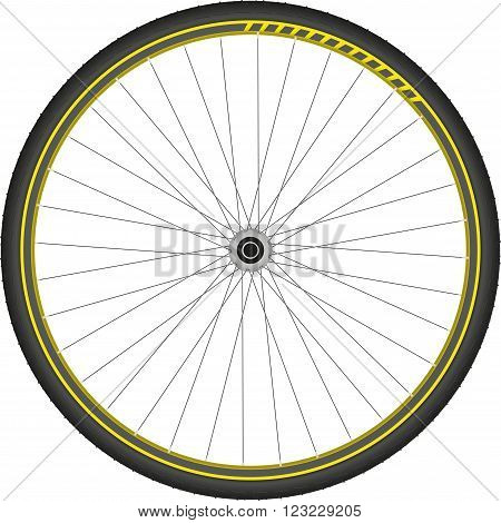 bicycle wheel speed shifter simple vector illustration of isolated racing element eps 10