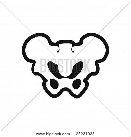 stylish black and white icon hip bone