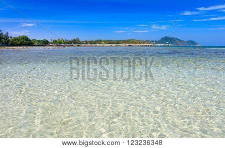 A crystal clear water at Chalong Bay Phuket Thailand