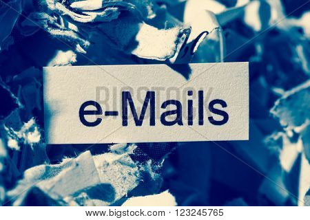 shredded paper keywords emails