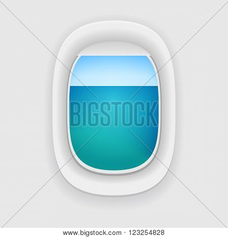 Aircraft Window With A Sea View