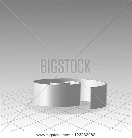 Abstract spiral 3d maze concept illustration for business design with gradient background