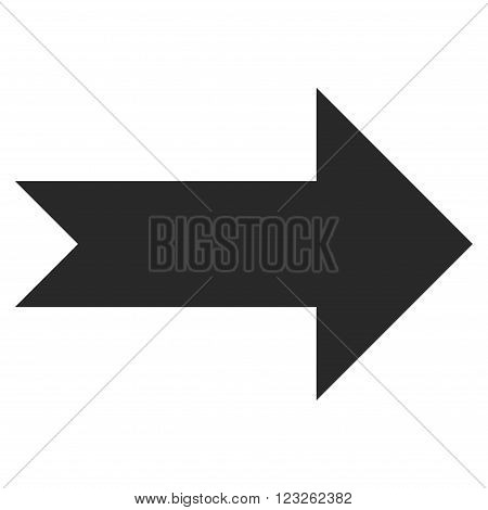 Arrow Right vector icon. Arrow Right icon symbol. Arrow Right icon image. Arrow Right icon picture. Arrow Right pictogram. Flat gray arrow right icon. Isolated arrow right icon graphic.