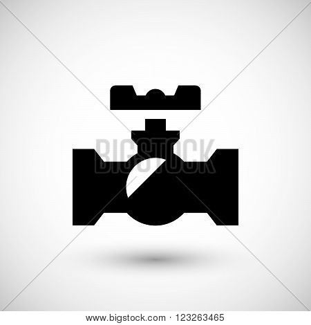 Valve symbol icon isolated on grey. Vector illustration