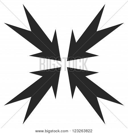 Compression Arrows vector icon. Compression Arrows icon symbol. Compression Arrows icon image. Compression Arrows icon picture. Compression Arrows pictogram. Flat gray compression arrows icon.