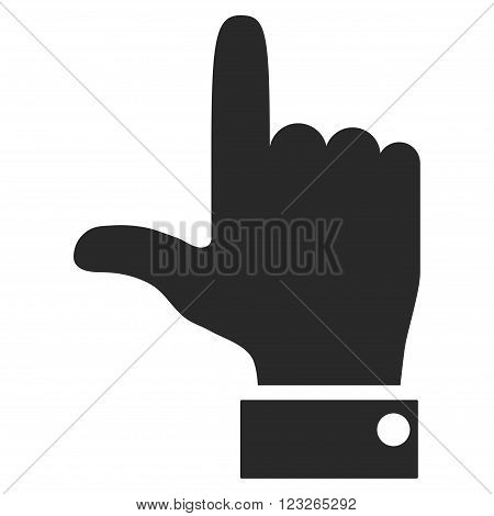Hand Pointer Up vector icon. Hand Pointer Up icon symbol. Hand Pointer Up icon image. Hand Pointer Up icon picture. Hand Pointer Up pictogram. Flat gray hand pointer up icon.