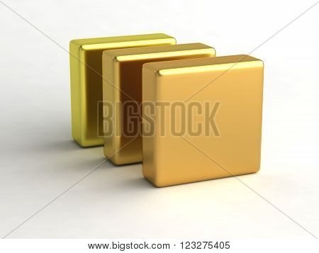cube file folder block  thumb thumbs icon 3D Illustration