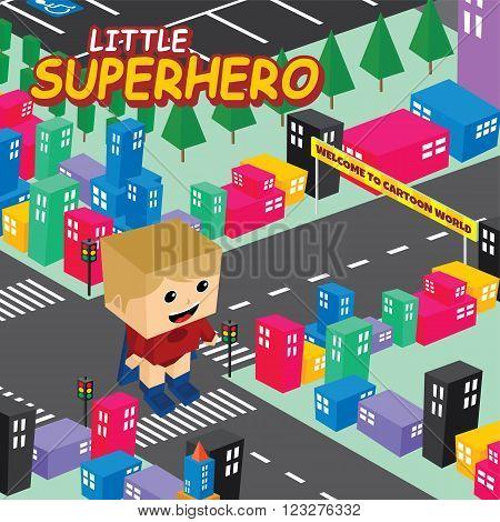 Amazing Superhero Isometric World Theme