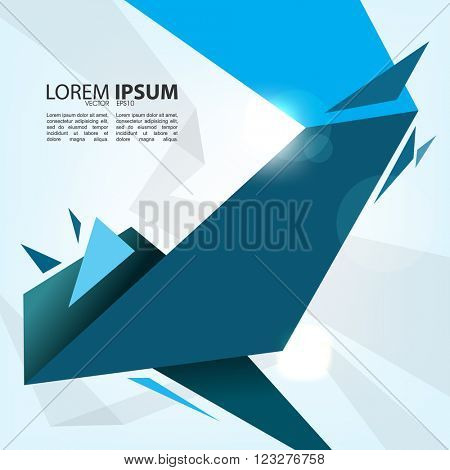 eps10 vector abstract polygon shape material flat layout design