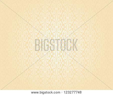 Bright wedding peach luxury vintage background pattern