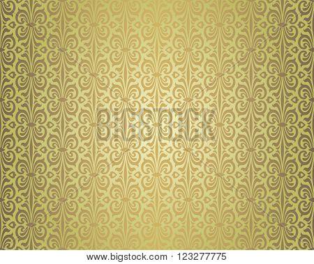 Green brown vintage repetitive background design pattern