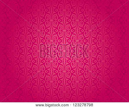 Retro red vintage pattern vector seamless background design