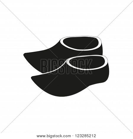 Amsterdam Holland clogs simple icon vector eps10