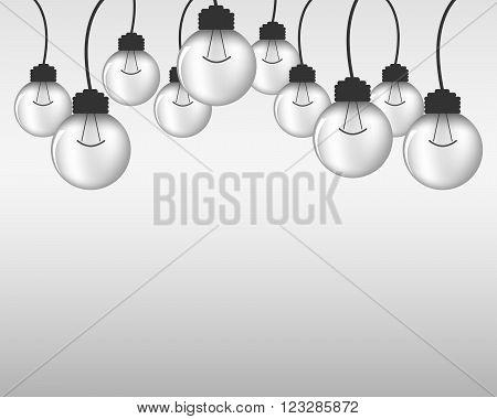 Light bulb - vector illustration. Light bulbs - abstract background. Abstract background with light bulbs. Several light bulbs on a light background.