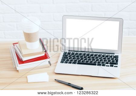 Notebook And Coffee Top
