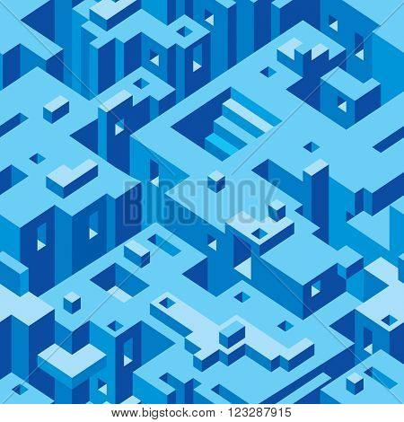 Abstract Architecture Seamless Texture Pattern