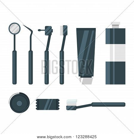 Dental instrument, toothbrush, toothpaste, chewing gum, dental floss, mouthwash
