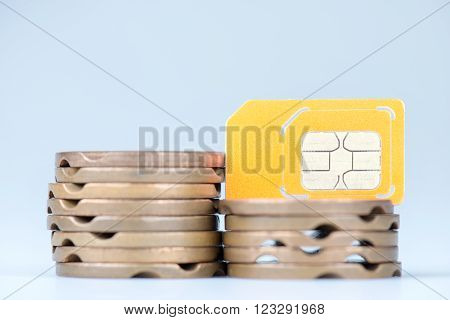 Old Telephone Tokens And Sim Tecnology