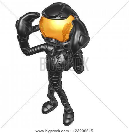 Astronaut 3D Illustration