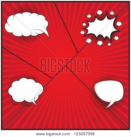 Comic speech bubble, comic background, design for comic background