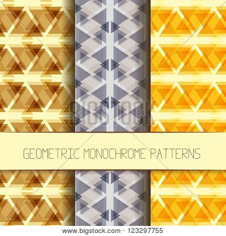 Abstract monochrome patterns collection. Set of monochrome modern geometric patterns. Collection of unique and modern seamless abstract monochrome backgrounds with geometric figures