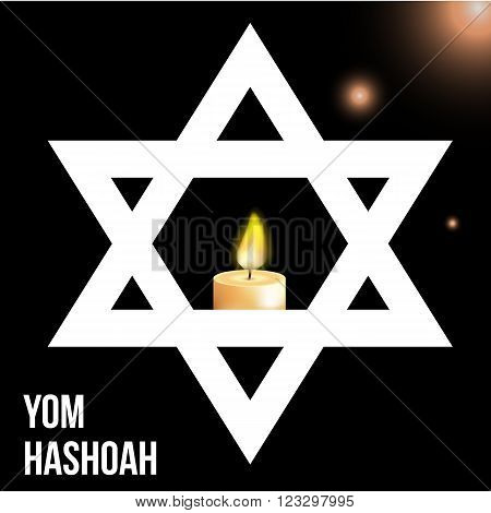 Vector illustration of a background for Yom Hashoah -remembrance Day eps 10