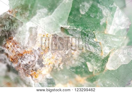 large green fluorite cubic crystal mineral sample