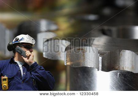 engineer and machinery