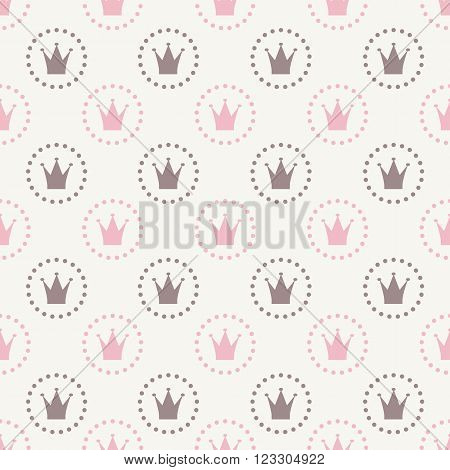 Princess Seamless Pattern Background Vector Illustration EPS10