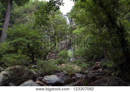 Khlong Lan Waterfall in Klong Lan National Park, Kamphaeng Phet Province