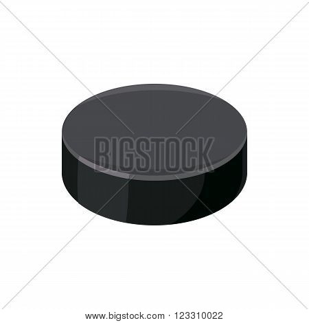 Puck icon in cartoon style on a white background