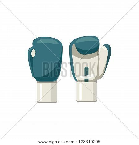 Boxing gloves icon in cartoon style on a white background