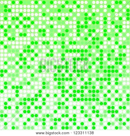 Light green pixel mosaic background with light and dark green colors. Pixels are easily editable.