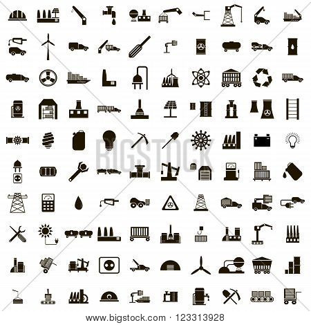 100 Industry icons set use for any design