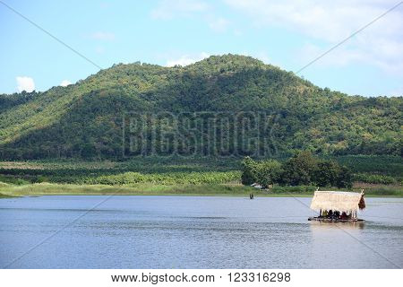 Reservoir and Mountain in Thailand at Asia